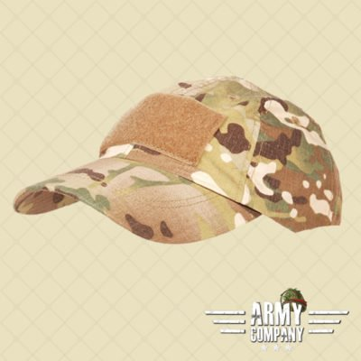 Baseball cap tactical + velcro - dtc/multi