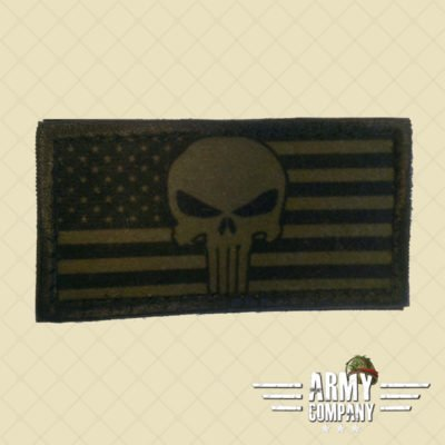 Patch vlag USA Punisher - OD Green