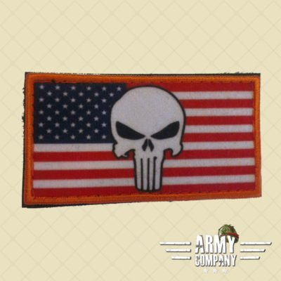 Patch vlag USA Punisher - Full color