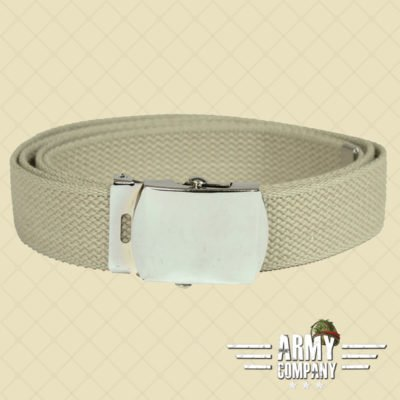 US Cotton web belt Mil-Tec - Khaki