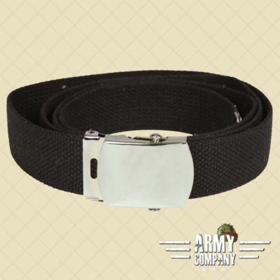 US Cotton web belt Mil-Tec - Zwart