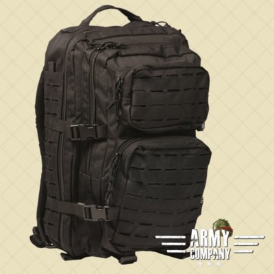 US Laser cut Assault Backpack - Zwart