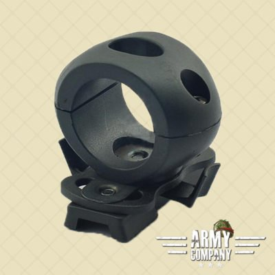 "1,2"" / 30 mm Flashlight helmet mount – Black"