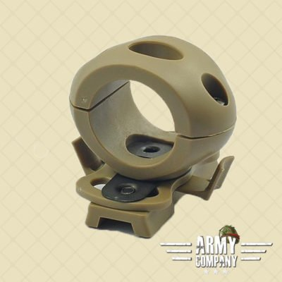 "1,2"" / 30 mm Flashlight helmet mount – Dark earth"