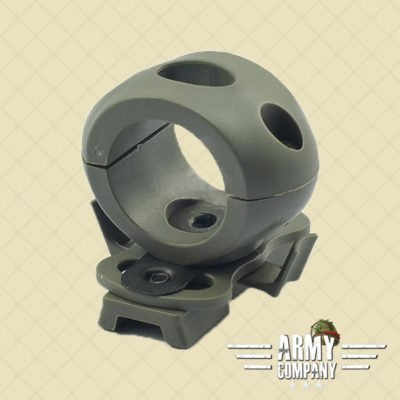 "1,2"" / 30 mm Flashlight helmet mount – Foliage green"